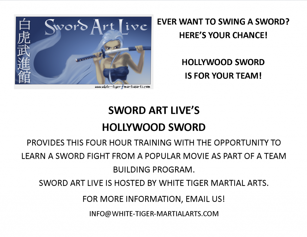 Hollywood Sword (a Teamwork experience) – WHITE TIGER