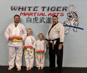 Browne Family Promotion to Orange Belt
