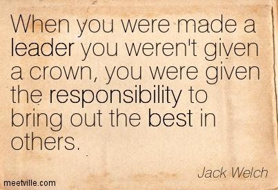 Social responsiblity jack welch
